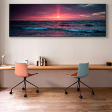 Braised Cloud Sunset Canvas Art Posters And Prints Seascape Modern Canvas Paintings on the Wall Art Beach Pictures For Bed Room home of the braised