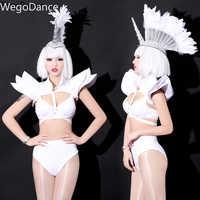 Nova mulher roupas sexy gogo lead dancer vestuário discoteca cantor palco trajes de dança jazz das mulheres