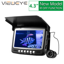 ViewEye Original Video buscador de peces bajo el agua Video Fishfinder pesca Cámara 8 Uds monitor LED infrarrojo kit de cámara regalo del día(China)