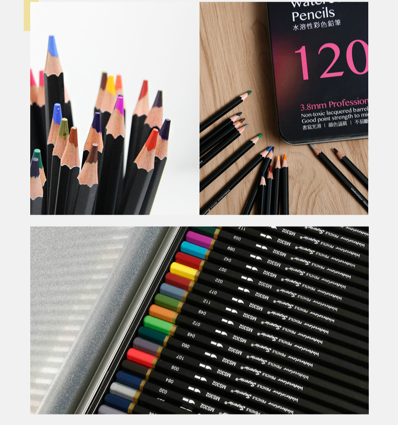 Lapis 48 72 120 profissional conjunto prismacolor