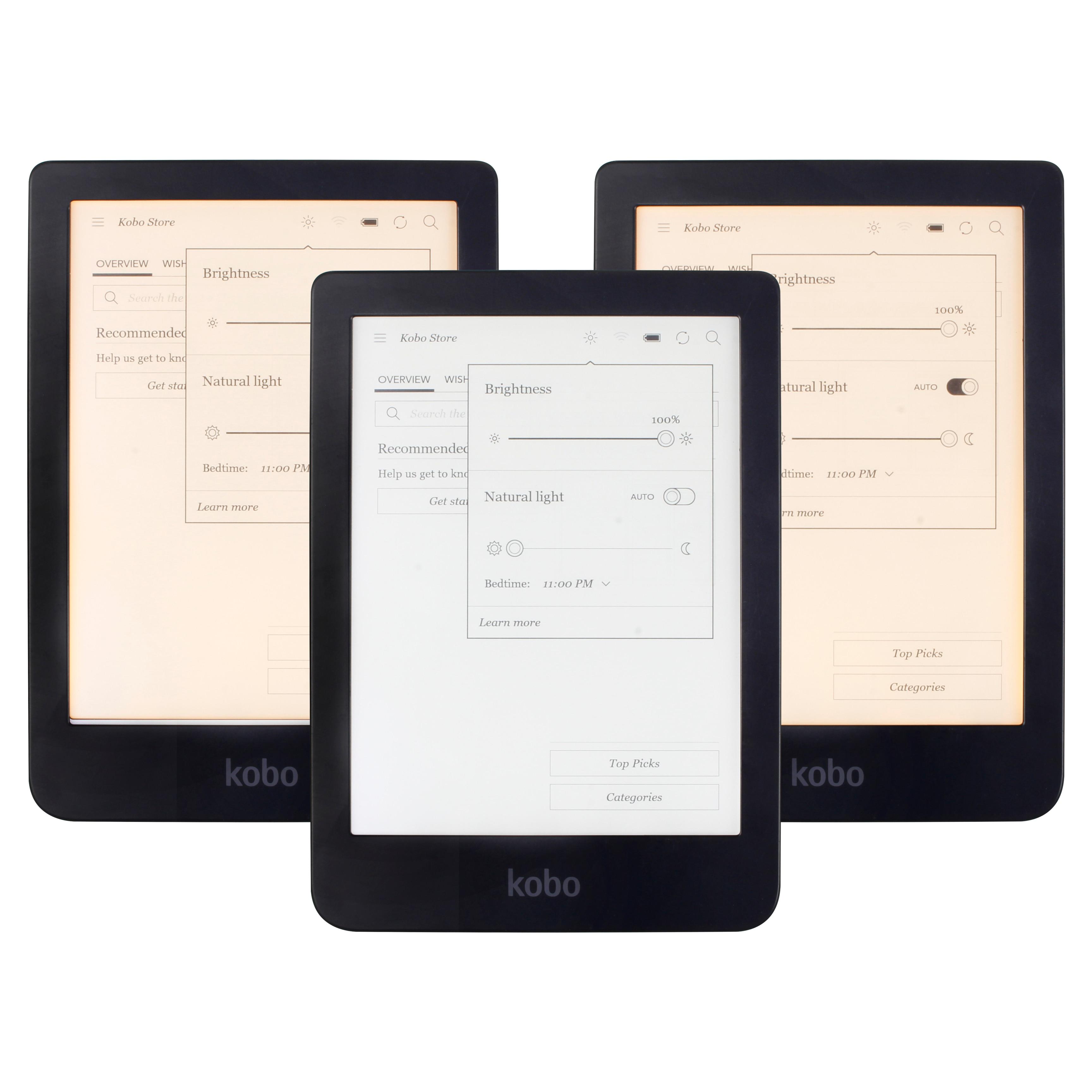 KOBO Clara HD N249 читалка сенсорный экран чтения электронных книг e-ink спереди светильник электронные книги ридер белый/теплый белый светильник