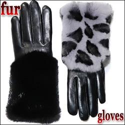 Leder handschuhe weibliche modelle Rex kaninchen haar nerz haar winter warme verdickt pelz high-grade weibliche schaffell handschuhe touch bildschirm