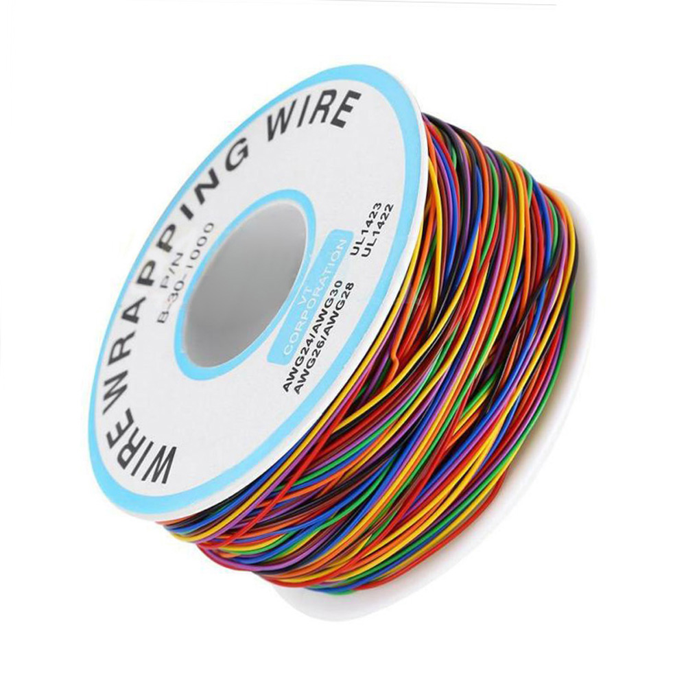 8-Wire 280M Insulated P/N Wrapping Cable Wrap Winder Thin Wire B-30-1000 30 AWG