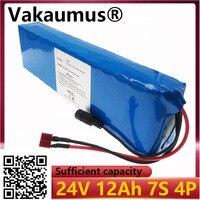 Bloco da bateria 24 v 12ah com 15a bms 250 w 350 w 18650 bateria elétrica do motor de ebike bateria de lítio 29.4 v 12800mah bms
