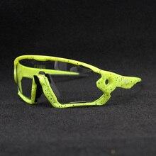 뜨거운 판매 명확한 Photochromic 사이클링 선글라스 스포츠 선글라스 남자 여자 MTB 도로 자전거 사이클링 안경 안경