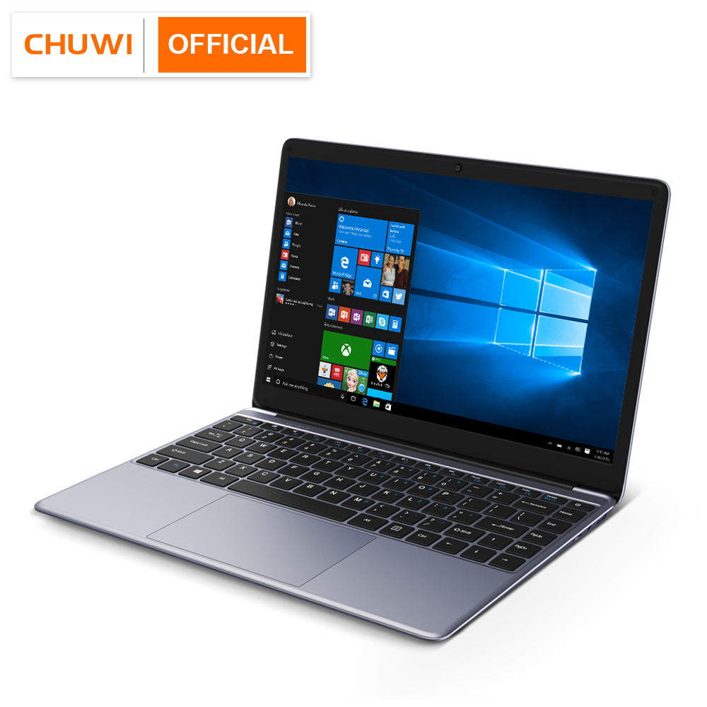 CHUWI Ips-Screen Notebook Computer-Intel 256GB-WINDOWS Dual-Core N4000 8GB 10 Pro Full-Laminated title=