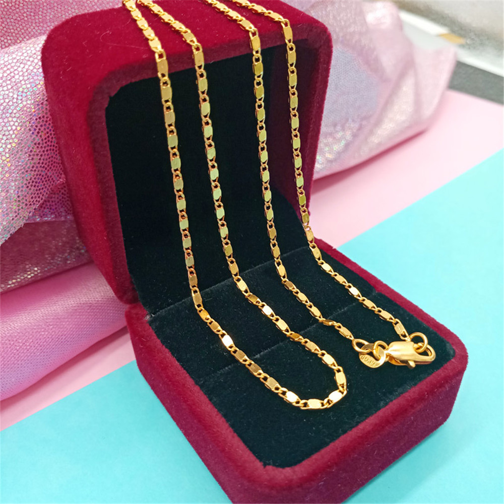 Various Size 16-30 Hot Sale Gold Filled Figaro Necklace Chain Unisex Jewelry With Good Lobster Clasps Factory Price