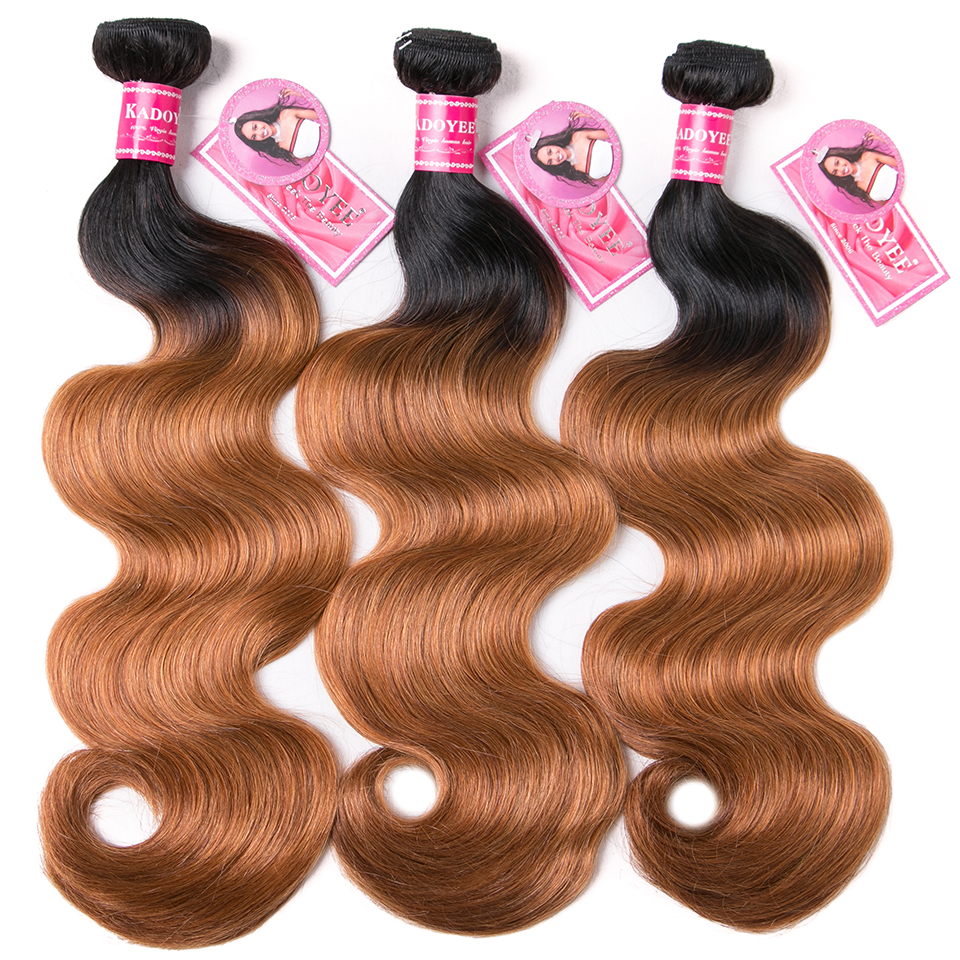 Brazilian Hair Weave Bundles 100% Human Hair Body Wave 3bundles 1B27 Color Ombre Remy Hair Extensions 8-26inches For Black Women