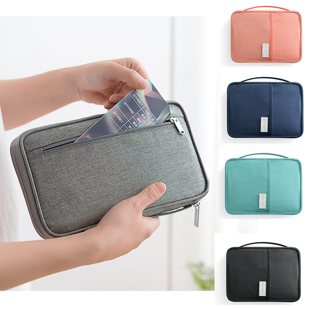 Holder Wallet Organizer Travel Accessories Document Invite.l Travel Passport Bag Waterproof And Dustproof Travel Document Bag