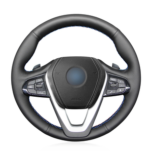 Image 1 - Hand stitched Black PU Faux Leather Car Steering Wheel Cover for BMW G20 G21 G30 G31 G32 X3 G01 X4 G02 X5 G05 X7 G07 Z4 G29