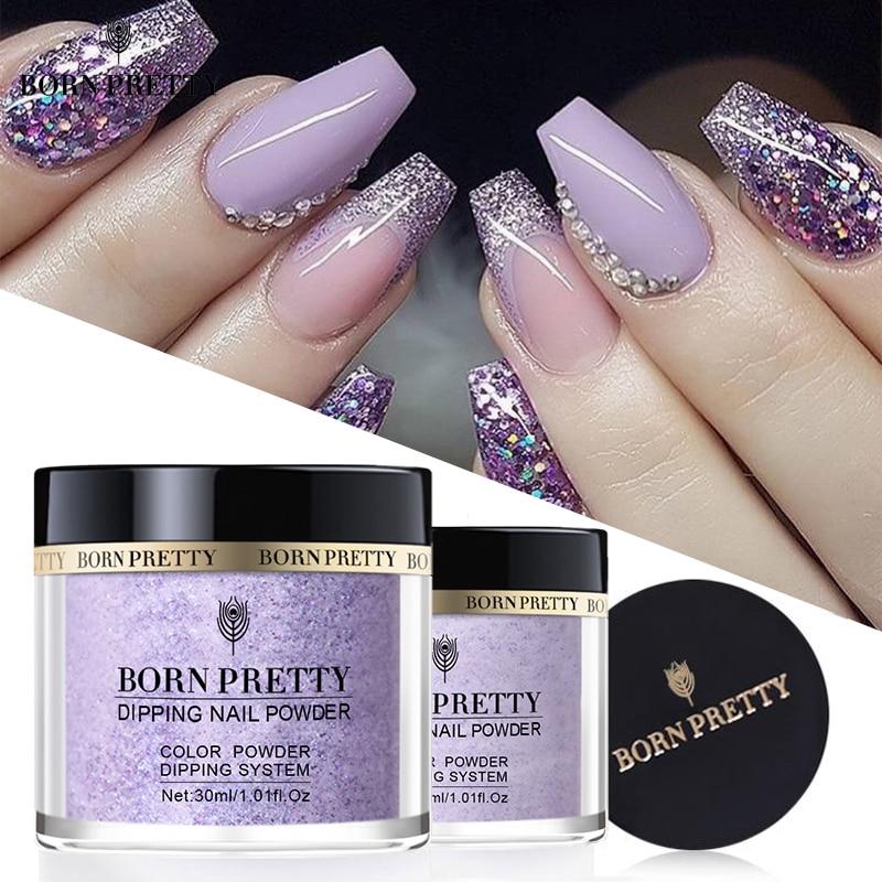 BORN PRETTY 30ml Dip Nail Powder Pure-Nail-Color Shinning Natural Dry Glittery Pigment Powder Dipping System No Need Lamp Cure