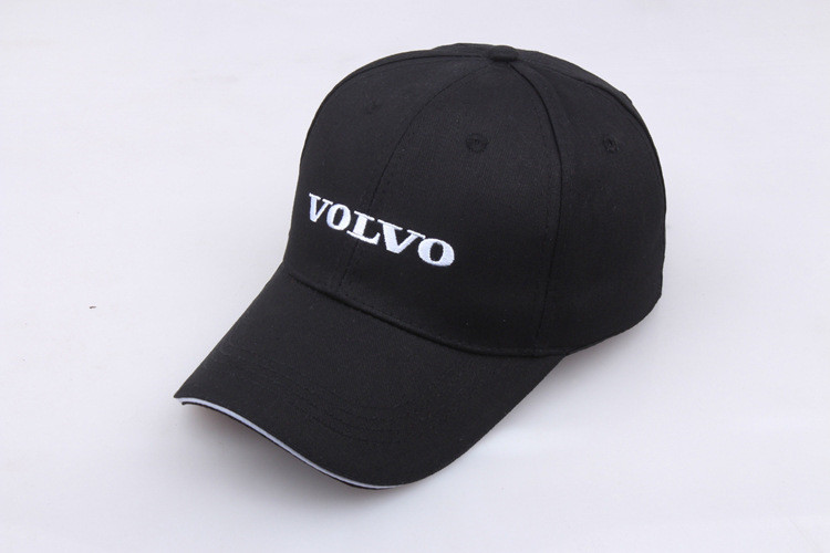 unisex hat black Volvo baseball Cap Adjustable size with embroidered logo