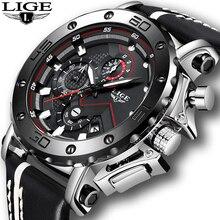 Relogio Masculino modne zegarki męskie 2019 LIGE Top luksusowa marka męskie biznesowe skórzane wojskowe wodoodporne data Dial duży zegarek