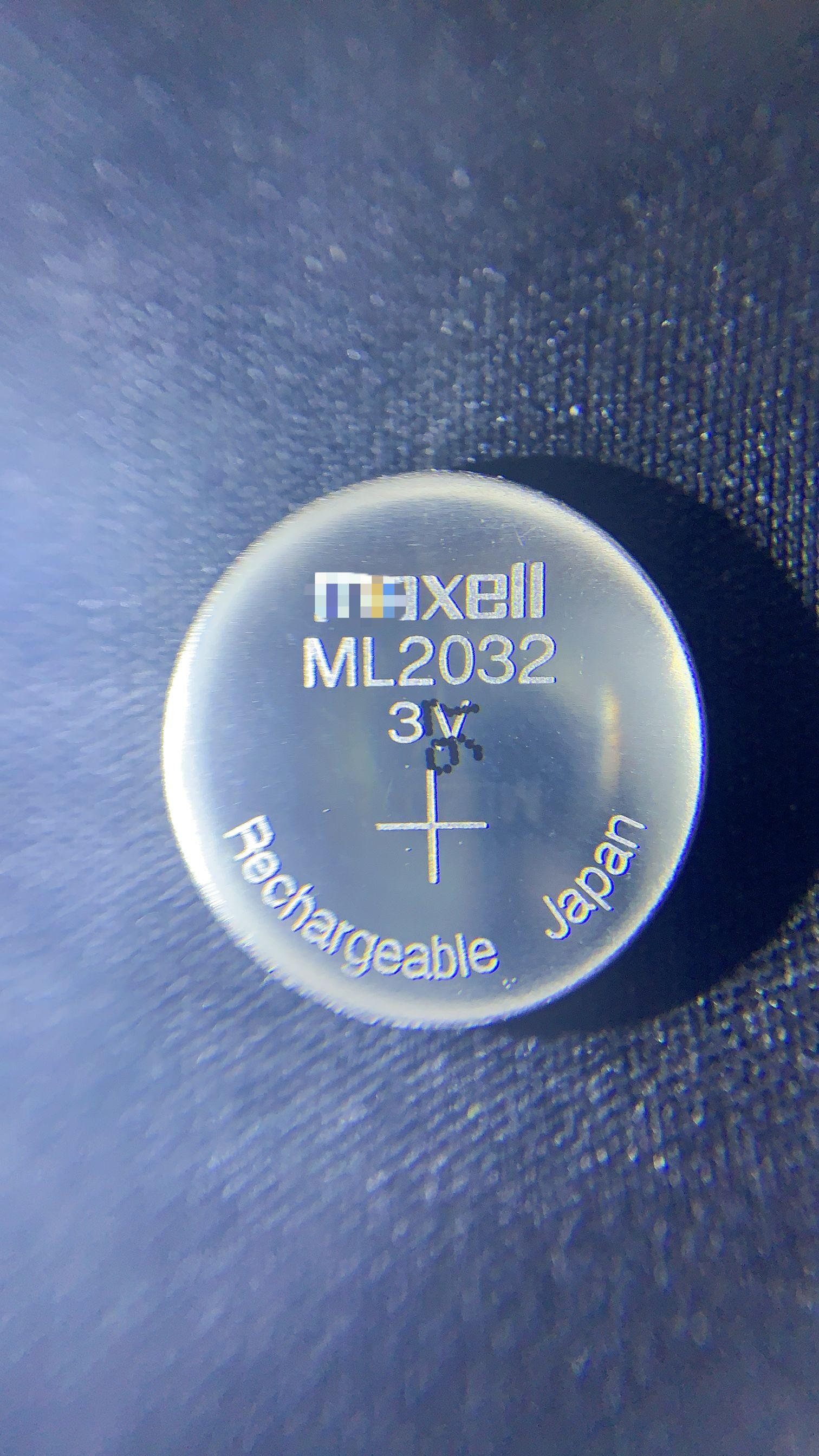 1 unids/lote nueva Maxell original ml2032 3 v ricaricabile delle cellule del tasto batteria al litio batería un bottone (ml2032)