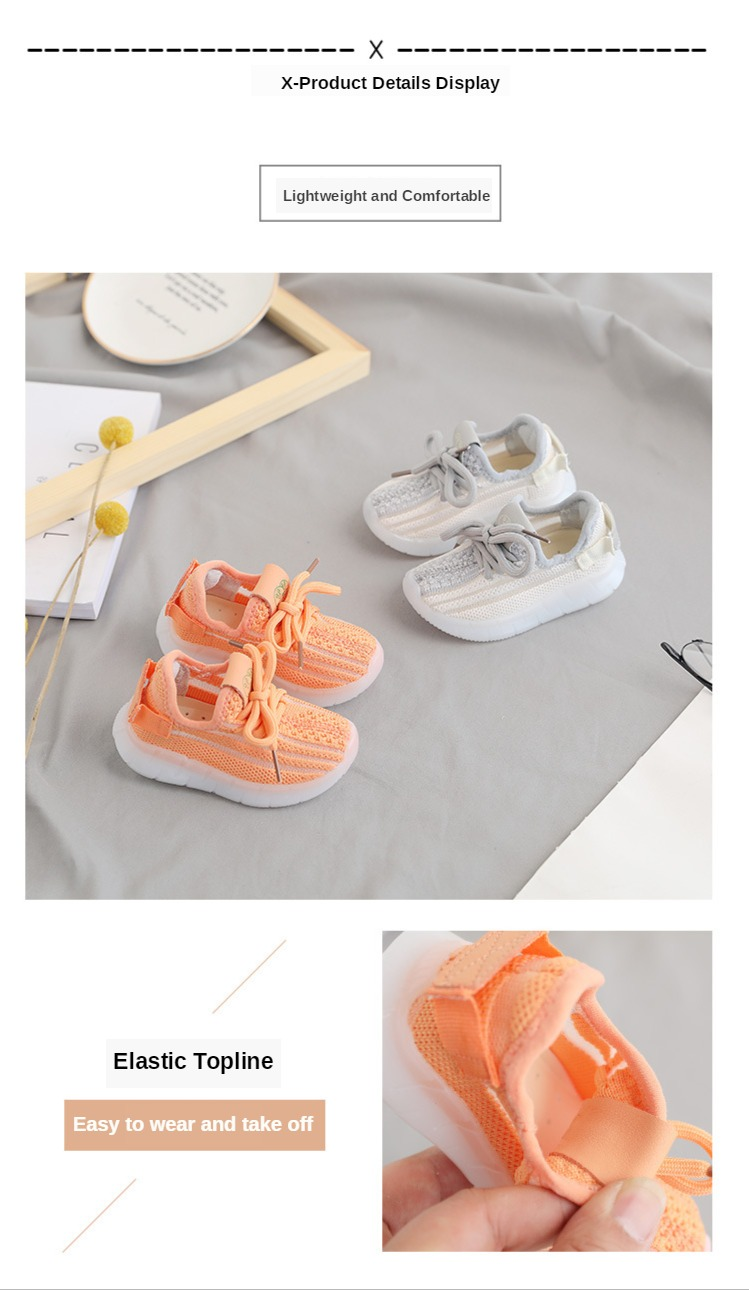 DIMI 2020 Spring/Autumn New Baby Shoes Soft Non-slip Infant First Walkers Breathable Knitting Girl Boy Toddler Shoes Kid Sneaker