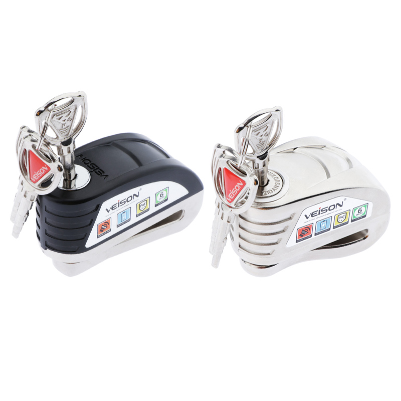 Motorcycle Brake Alarm Lock Anti-theft Wheel Disc Brake Lock Security Alarm Universal For Motorcycle Scooter Bicycle Anti Thief