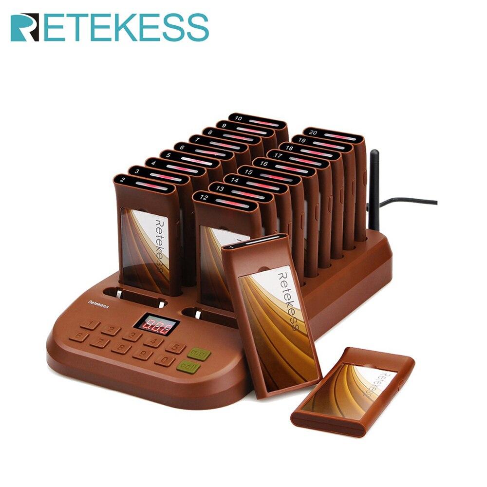 Retekess – téléavertisseur T116 pour Restaurant, avec 20 récepteurs, 998 pièces maximum, système de radiomessagerie sans fil pour café, clinique et Restaurant 1