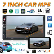 "2 DIN 7 ""Auto Stereo Radio MP5 FM Player AUX-IN Spiegel Link Touchscreen Autoradio + Kamera (optional)(China)"