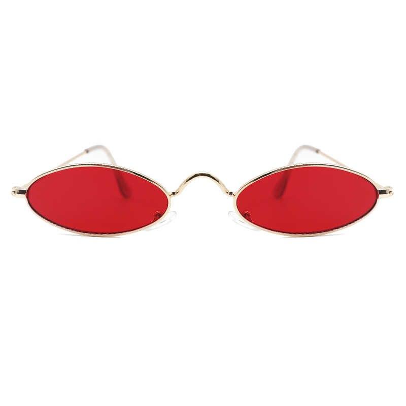 ヴィンテージオーバルサングラス小シェード女性レトロクリアレンズ眼鏡 90s Oculos ソルレドンドサングラス女性男性 Zonnebril 婦人