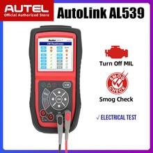 Autel AL539 OBDII קוד קורא OBD רכב סורק חשמל Tester אל 539 12V Autel AL539B AVO מטר סוללה בודק אבחון כלי