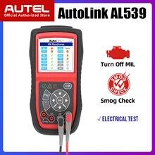 Autel AL539 kod OBDII czytnik samochodowy system OBD skaner Tester elektryczny AL 539 12V Autel AL539B AVO miernik Tester baterii narzędzie diagnostyczne