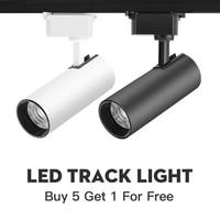 Ajustável 12/30/40 w 220 v 20 w led faixa luz cob lâmpada ponto ferroviário luzes de teto holofotes cozinha loja iluminação|Iluminação do percurso| |  -