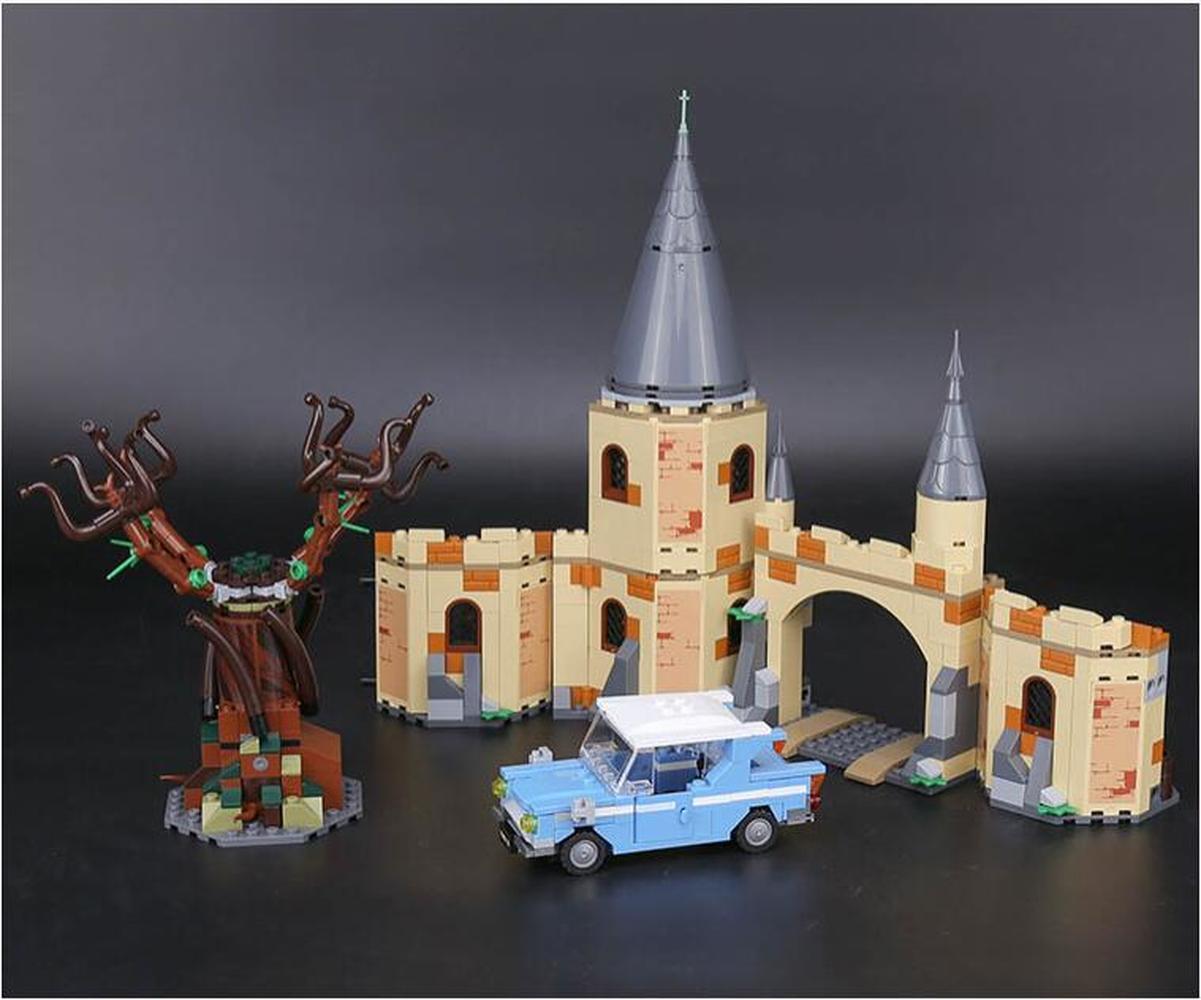 Fit film saule blanc ensemble blocs de construction briques enfants jouets modèle de cadeaux de noël