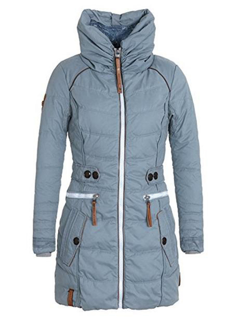 Women's Parkas Thicken Outerwear Solid Hooded 3