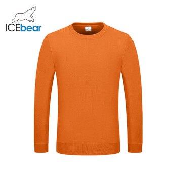 icebear 2020 New Casual Long Sleeve Round Neck Sweatshirt Pullover Men/Women Neutral style 029 6
