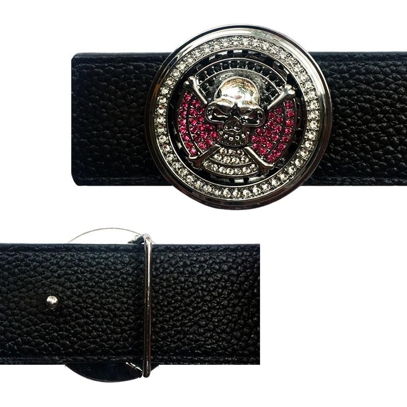 Cool Skull Icon Western Men's Belt Buckles  Suitable For 4 Cm Width Belts Metal Accessories