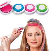 Цветные мелки для волос, модных 4 цвета волос, европейский стиль, пастельные тона, красители для волос в виде круглой подушечки с краской, мягкие пастельные тона красок для волос