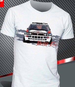 Lancia Delta Martini evolución Hf, camisetas con estampado de Rally integrado, moda para hombre 2020, camiseta Casual de Color sólido