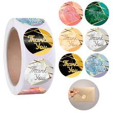 600 шт Круглые этикетки мраморного дизайна спасибо рулон с наклейками конверт декоративная детская игрушка в ванную свадьбу пользу личного бизнеса использования