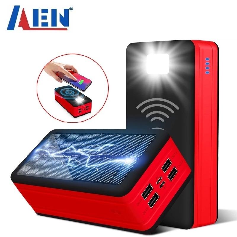Внешний аккумулятор на солнечной батарее с 4usb-портами, 99000 мАч