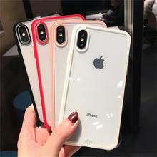 Luxury Shockproof Bumper Transparent Silicone Phone Case For