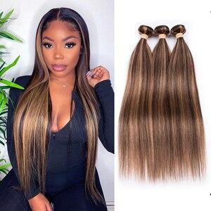 Image 1 - BEAUDIVA Hair Brazilian Straight Hair Bundles P4 27 Color Brazilian Hair Weave Bundles 3/4PCS Remy Human Hair Bundles 95G/PCS