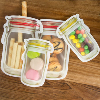 Seal Reusable Bags Food Container Zipper Bags Food Storage Organizer Ziplock Bags Kitchen Organizer