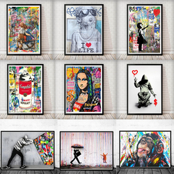 Banksy Street Art Quotes Life Is Short Chill The Duck Out Posters and Prints Graffiti Canvas Painting Wall Pictures for Home Dec