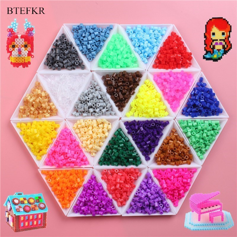 1000 Pieces/Pack 5mm Hama Beads 3D Puzzle Toys Russian Handmade Fuse Beads Perler Beads Children Educational Toys