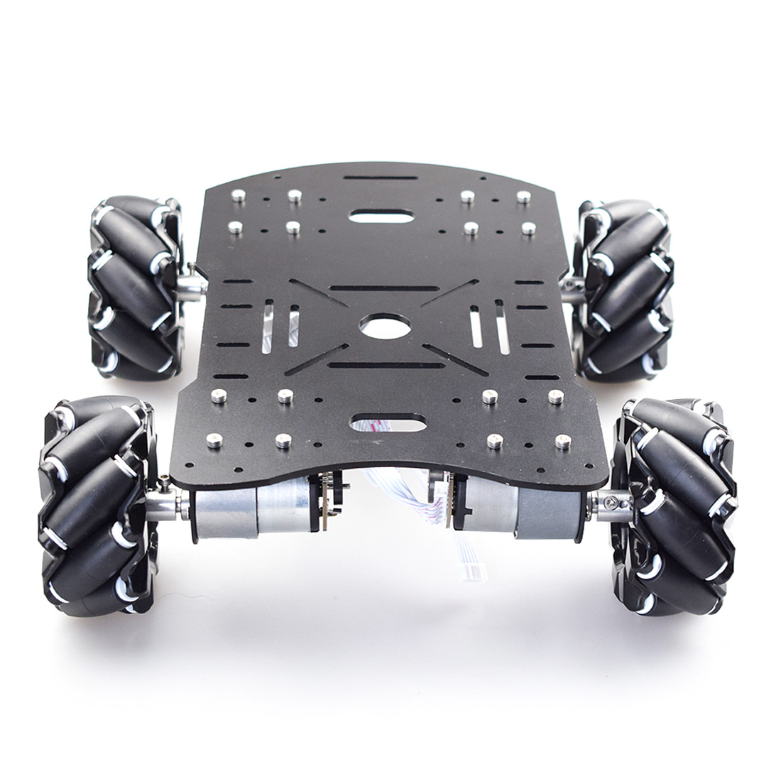 80mm Mecanum Acrylic Platform Omni-Directional Mecanum Wheel Robot Car With Arduino Electronic Control (Without Power Supply)