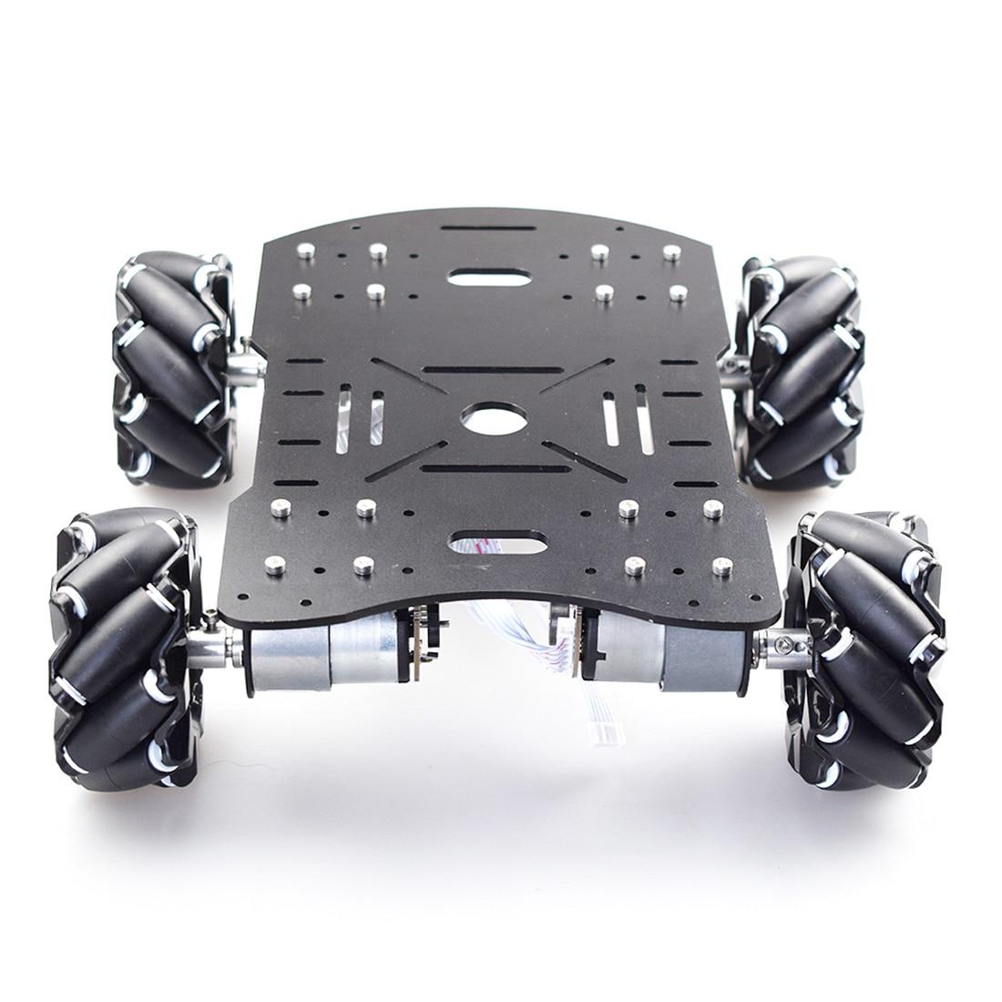 80mm Mecanum Acrylic Platform Omni-Directional Mecanum Wheel Robot Car With Arduino Electronic Control (Without Power Supply)