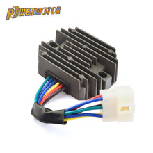 New Voltage Regulator Rectifier Motorcycle Ignition for Kubota & Grasshopper RS5101 RS5155 6 Wire Metal Black DC 12V Accessories