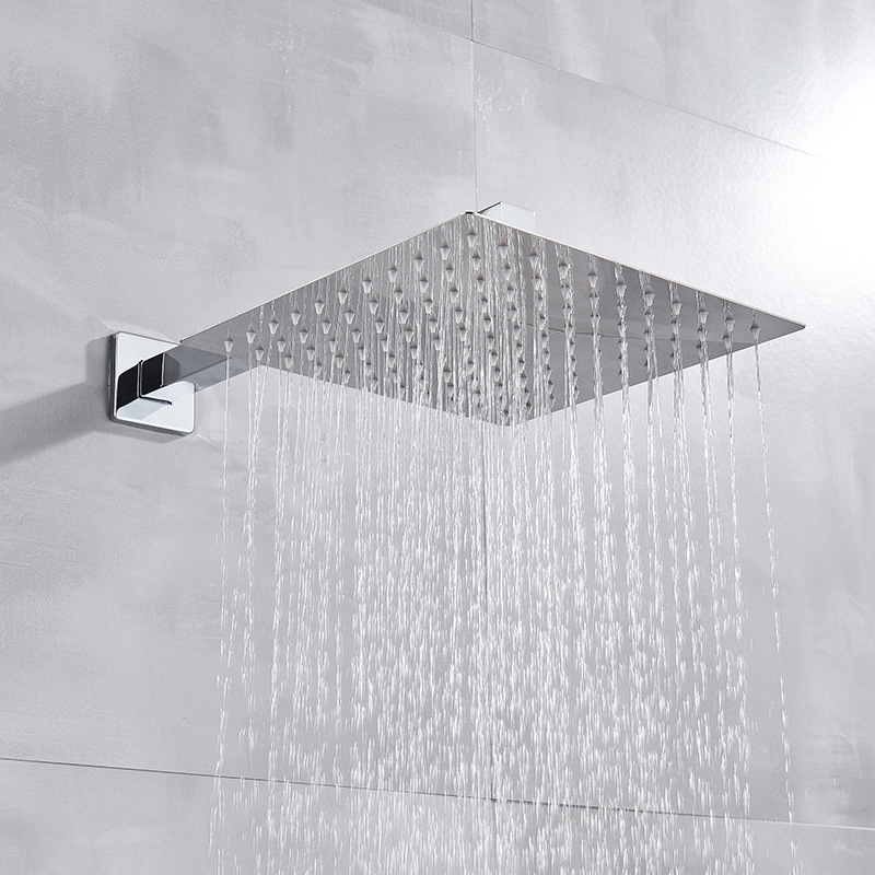 H7a889dc134114b89a6e7f9915911fccfL Shinesia Chrome Concealed Bathroom Shower Faucet Set Wall Mounted 8''10''12''16'' Rainfall Shower Head Hot and Cold Mixer Tap