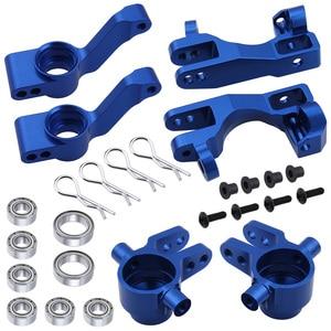 Image 4 - Dla 1/10 Traxxas Slash 4x4 aluminium Steering Knuckle Blocks Caster c piasty Stub Axle Carriers wymiana 6837 6832 1952