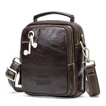 New Men's Small Messenger Bags 100% Genuine Leather Male Crossbody Bag Mini Handbag Shoulder Man Bag Bolso Hombre Bolsos De Mano