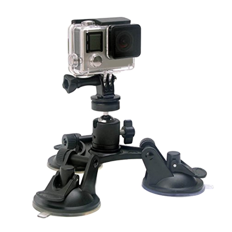 Triple Suction Cup Mount Low Angle Sucker Holder for Gopro Hero 2 3 3+ 4 Camera