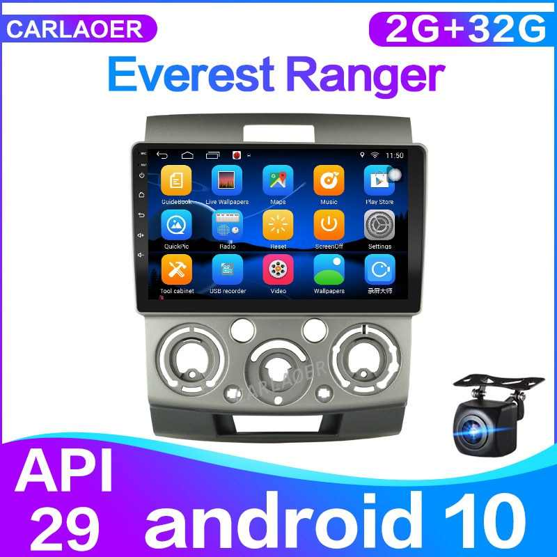 Android 10.0 untuk Ford Everest Ranger 2006-2010 untuk Mazda Bt 50 Mobil Radio Pemutar Video Multimedia Gps Navigasi 2 DIN 2G + 32G