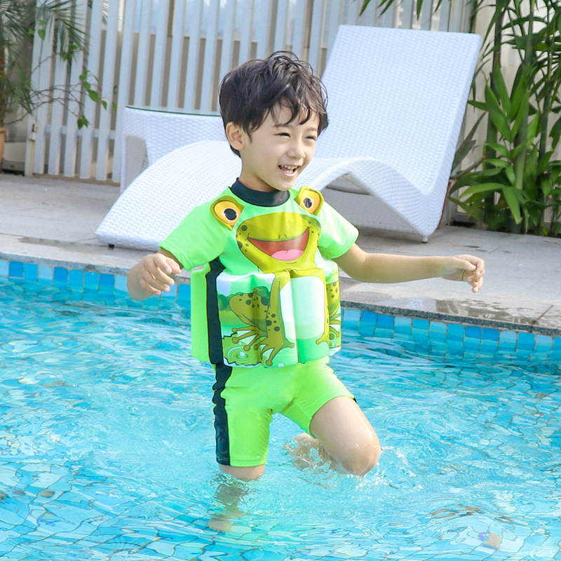 New Style KID'S Swimwear BOY'S Swimsuit Infant Baby Swimwear One-piece Floating Vest Bathing Suit