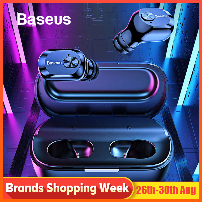Baseus W01 TWS Bluetooth Earphone 5.0 Wireless Bluetooth Headphone Stereo Bass Wireless earphones With Microphone For Phone