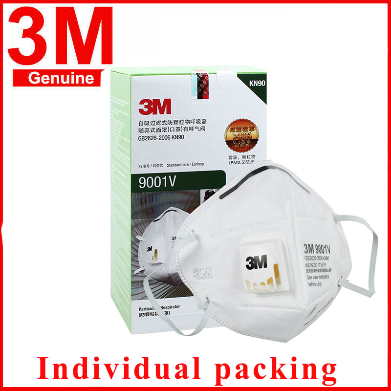 1pcs/lot 3M Mask 9001V Anti Fog Dust Disposable Mask With Respiratory Valve Protective Labor Protection Dust Mask